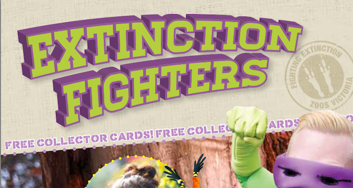 Zoos Victoria 'Extinction Fighters' kids magazine