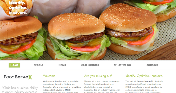 FoodServeX website copywriting